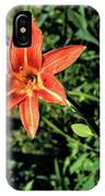 Orange Day Lily 1 IPhone Case