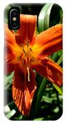 Orange Flower Of Summer IPhone Case