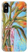 Orange Gladiolus In Vase IPhone X Case