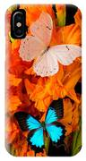 Orange Glads With Two Butterflies IPhone Case