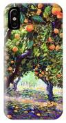 Orange Grove Of Citrus Fruit Trees IPhone Case