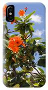 Orange Hibiscus With Fruit On The Indian River In Florida IPhone Case