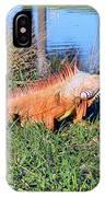 Orange Iguana IPhone Case