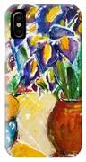 Orange Iris IPhone Case