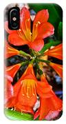 Orange Trumpet Flowers At Pilgrim Place In Claremont-california IPhone Case