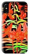 Orange Lilies, Hand Drawn Painting IPhone Case