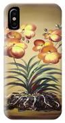 Orange Orchid Flowers IPhone Case