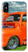 Orange Pick Up At The Car Show IPhone Case
