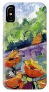 Orange Poppies IPhone Case
