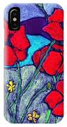 Orange  Red Poppies IPhone Case