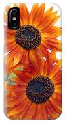 Orange Sunflower 2 IPhone Case