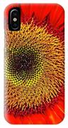 Orange Sunflower IPhone Case