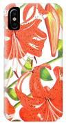 Orange Tiger Lilies IPhone Case