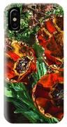 Orange Tulip Chrome IPhone Case