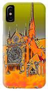 Orange Version Of Notre Dame IPhone Case