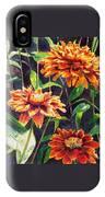 Orange Zinnias IPhone Case