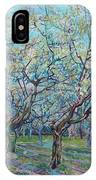Orchard With Blossoming Plum Trees   IPhone X Case