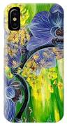 Orchids In A Gold Rain IPhone Case