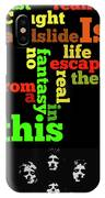 Order The Lyrics Game. Queen. Bohemian Rapsody. Game For Music Lovers And Fans IPhone Case