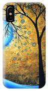 Orginal Abstract Landscape Painting Blue Fire By Madart IPhone Case