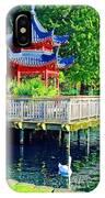 Orient Swan Pagoda IPhone Case