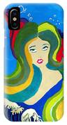 Japanese Mermaid Bubbles  IPhone Case