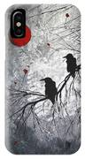 Original Abstract Surreal Raven Red Blood Moon Painting The Overseers By Madart IPhone X Case