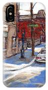 Original Montreal Paintings For Sale Tableaux De Montreal A Vendre Pointe St Charles Scenes IPhone Case