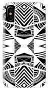 Ornamental Intersection - Abstract Black And White Graphic Drawing IPhone Case