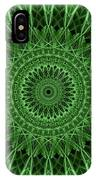 Ornamented Mandala In Green Tones IPhone Case