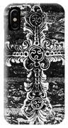 Ornate Cross 3 Bw IPhone Case