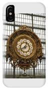 Ornate Orsay Clock IPhone Case