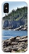Otter Cliffs In Acadia National Park - Maine IPhone X Case