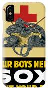 Our Boys Need Sox - Knit Your Bit IPhone Case