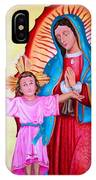 Our Lady Of Guadalupe And Child IPhone Case