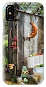 Outhouse In The Garden IPhone Case