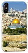 Over Jerusalem IPhone Case