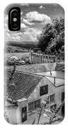 Over The Rooftops At Portree In Greyscale 2 IPhone Case