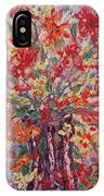 Overflowing Flowers. IPhone Case