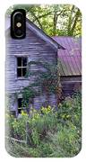 Overgrown Abandoned 1800 Farm House IPhone Case