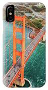 Overhead Aerial Of Golden Gate Bridge, San Francisco, Usa IPhone Case