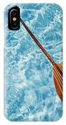 Overhead View Of Paddle IPhone Case