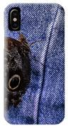 Owl Butterfly On Jeans IPhone Case