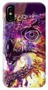 Owl The Female Eagle Owl Bird  IPhone Case