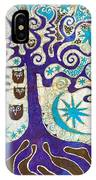 Owls In A Summer Tree IPhone Case