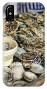 Oysters At The Market IPhone Case
