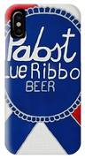 Pabst Blue Ribbon Beer. IPhone Case
