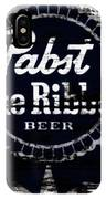 Pabst Blue Ribbon Beer Sign IPhone Case