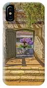 Pacific House Garden Watercorlors IPhone Case