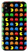 Pacman Seamless Generated Pattern IPhone Case